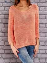 TOM TAILOR Pomarańczowy melanżowy sweter                                   zdj.                                  2