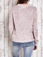 TOM TAILOR Różowy sweter z dodatkiem wełny z alpaki                                  zdj.                                  3