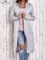 TOM TAILOR Szary długi sweter z kieszeniami
