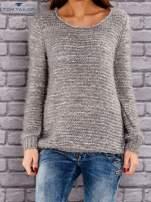 TOM TAILOR Szary melanżowy sweter fluffy                                  zdj.                                  1