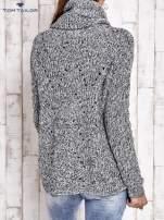 TOM TAILOR Szary melanżowy sweter z golfem                                                                          zdj.                                                                         5