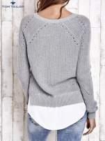 TOM TAILOR Czarny sweter z koszulą