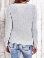 TOM TAILOR Szary sweter z rozcięciami                                  zdj.                                  2