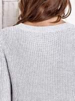 TOM TAILOR Szary sweter z rozcięciami                                  zdj.                                  5