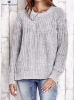 TOM TAILOR Szary wełniany sweter o grubym splocie                                  zdj.                                  2