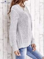 TOM TAILOR Szary wełniany sweter o grubym splocie                                  zdj.                                  4