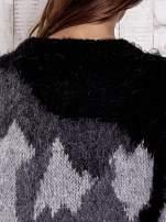 TOM TAILOR Kremowy wełniany sweter z abstrakcyjnym deseniem                                                                          zdj.                                                                         7