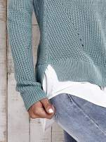 TOM TAILOR Zielony sweter z koszulą                                                                          zdj.                                                                         8