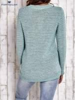 TOM TAILOR Zielony włóczkowy sweter                                  zdj.                                  5
