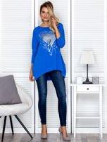 Tunika damska z malarskim sercem niebieska                                  zdj.                                  4