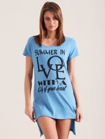 Tunika niebieska bawełniana SUMMER IN LOVE                                  zdj.                                  2