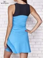 Turkusowa sukienka sportowa z ciemniejszymi wstawkami