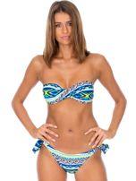 Wiązany strój kąpielowy bikini w kolorowe desenie                                  zdj.                                  1