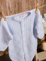 Włóczkowy rozpinany kombinezon niemowlęcy jasnoniebieski                                  zdj.                                  5