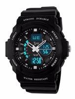 ZEMGE Zegarek sportowy męski Klasa wodoszczelności 5 ATM Chronograf Datownik Alarm Podświetlenie 2 Czasy