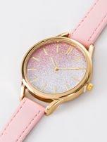GLITTER OMBRE jasno różowy zegarek damski                                  zdj.                                  2