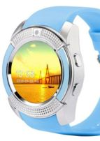 Zegarek smartwatch V8 błękitny Monitor snu, Krokomierz, Telefon                                  zdj.                                  1