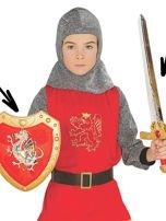 Zestaw miecz i tarcza rycerza gwardii królewskiej dla dzieci