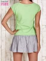 Zielona dresowa sukienka tenisowa z sercem                                                                          zdj.                                                                         4