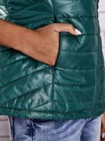 Zielona kamizelka puchowa zasuwana na skos                                  zdj.                                  8