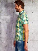Zielona koszula męska w kratę Funk n Soul                                  zdj.                                  2