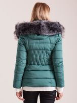 Zielona pikowana kurtka damska                                  zdj.                                  2