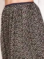 Zielona plisowana spódnica midi z brokatem