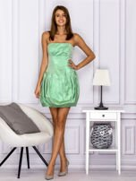 Zielona sukienka bombka z połyskiem                                  zdj.                                  4