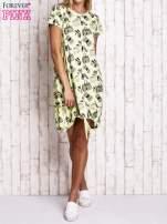 Zielona sukienka z kobiecym nadrukiem                                  zdj.                                  2