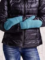 Zielone gładkie rękawiczki z jednym palcem                                  zdj.                                  3