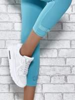 Białe legginsy sportowe termalne z patką z dżetów                                                                          zdj.                                                                         4