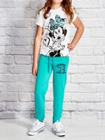 Zielone spodnie dresowe dla dziewczynki SUPER GIRL                                  zdj.                                  4