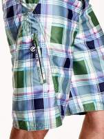 Zielone szorty męskie w kratkę