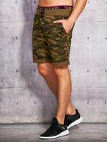 Zielone szorty męskie w militarnym stylu                                  zdj.                                  2