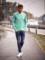 Zielony sweter męski w serek Funk n Soul                                                                          zdj.                                                                         10