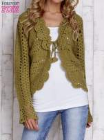 Zielony sweter z wiązaniem                                  zdj.                                  1