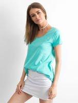 Zielony t-shirt damski basic                                  zdj.                                  3