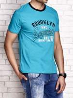 Zielony t-shirt męski z napisem BROOKLYN NYC                                  zdj.                                  3