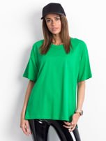 Zielony t-shirt o kroju oversize                                  zdj.                                  1
