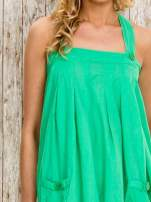 Zielony top damski na ramiączkach z guzikami                                  zdj.                                  5