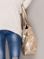 Złota torba z błyszczącym modułem                                  zdj.                                  2