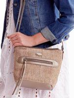 Złota torebka damska z plecionym modułem                                  zdj.                                  2