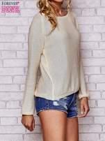 Złoty błyszczący sweter z haftem sowy z tyłu                                  zdj.                                  3