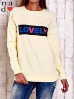 Żółta bluza z napisem LOVELY                                  zdj.                                  1