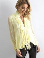 Żółta bluzka z żabotem                                  zdj.                                  1
