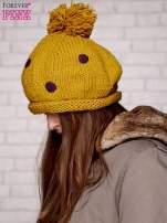 Żółta czapka w grochy                                  zdj.                                  2