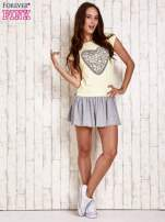 Żółta dresowa sukienka tenisowa z sercem                                  zdj.                                  4