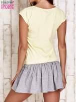 Żółta dresowa sukienka tenisowa z sercem                                  zdj.                                  2