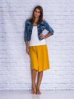 Żółta rozkloszowana spódnica midi                                  zdj.                                  4