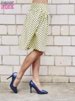 Żółta spódnica w grochy z plisami                                  zdj.                                  4